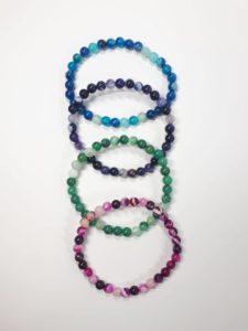 Achat-Armband
